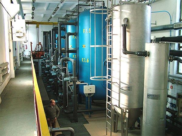 Hala filtrów i instalacji do dezynfekcji wód popłucznych - SUW Graniczna