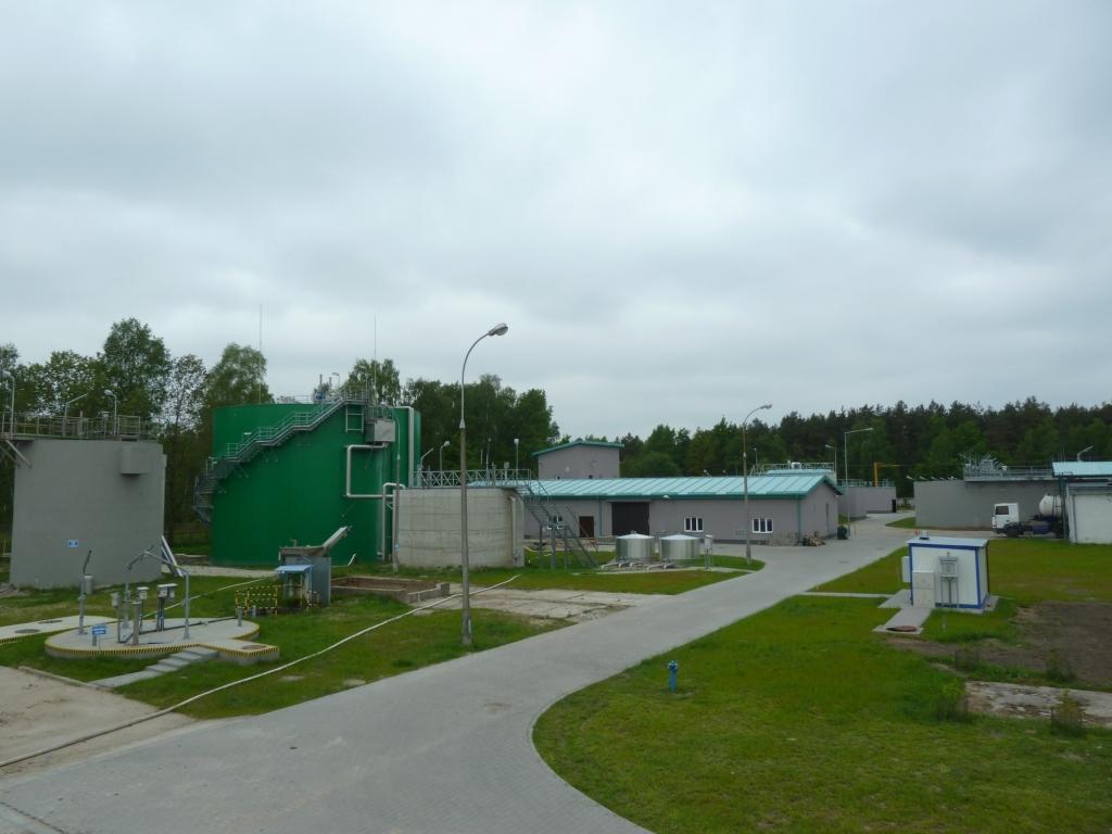 WKFz, budynek techniczny, zbiornik osadu zmieszanego, zbiornik